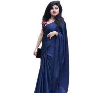 Japani Navy Blue Color Soft Silk Saree for women