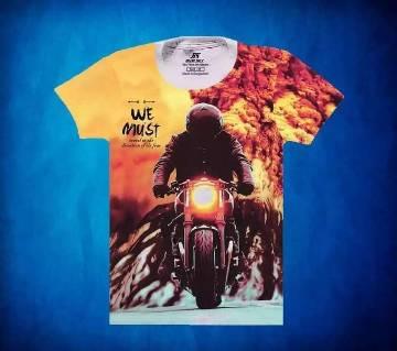 Mens Short Seleeve Cotton T-Shirt For Men-printed