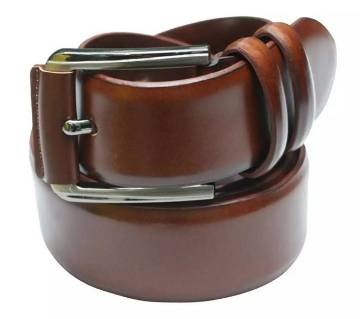 Chocolate Leather Formal Belt For Boys