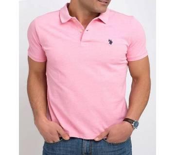 Pink Color U.S Polo Mens Polo Shirt