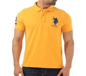 Yellow Color U.S Polo Mens Polo Shirt