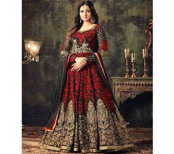 Unstitched Georgette Embroidery Gaown For Women