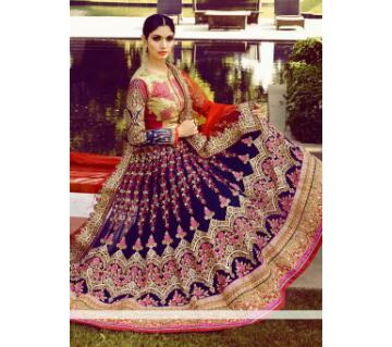 semi stitched Georgette Embroidery Gowan for Women