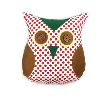 OWL CUSHION SINGLE APPLIQUE
