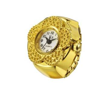 Gold Plated Finger Ring Watch
