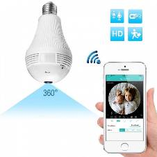 360 Degree Panoramic Bulb Spy IP Camera