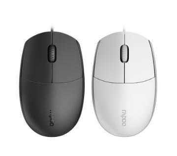 RAPOO N100 USB ওয়্যারড অপটিক্যাল Mute মাউস 1000DPI for Home Office Computer Mouse