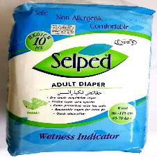 Selped Adult Diaper Textile Back Sheet (M size ) 10 piece