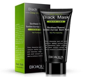 Bioaqua bamboo charcoal blackhead remover black mask acne treatment peel off black mask-60-China