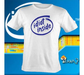 Idiot Inside - মেনজ কটন টি-শার্ট