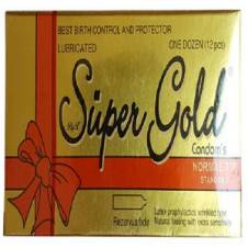 Super Gold Condom-12 Pcs