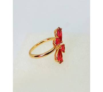 INDIAN ADJUSTABLE GOLD PLATED FINGER RING