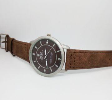 rolex genuine leather strip watch