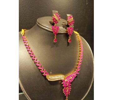 Indian Artificial Ruby Stone Necklace Set
