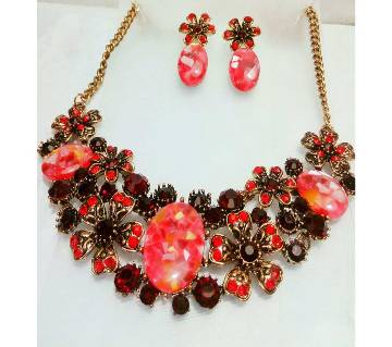 Indian stone setting necklace