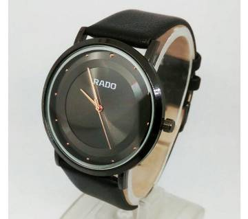 Rado copy soft leather strip watch for men