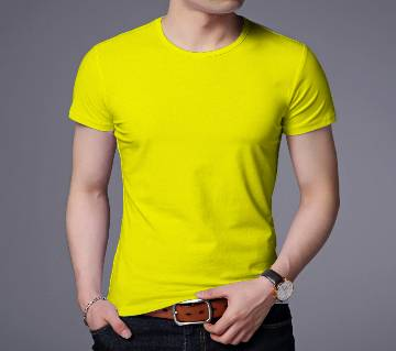 Gents Half Sleeve Slim fit Cotton T-Shirt