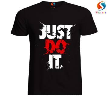 Gents Half Sleeve Slim fit Cotton T-Shirt Black