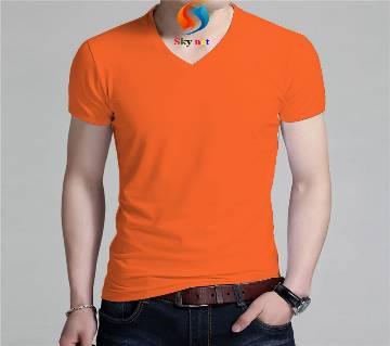Gents Solid Color Cotton T-Shirt