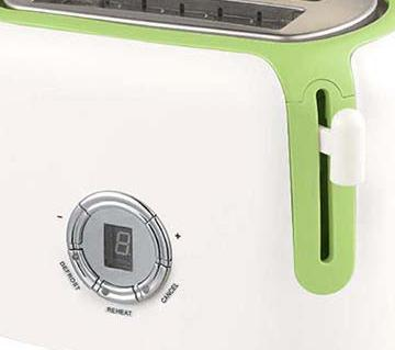 Donlim DTA8100 Pop-Up Digital Toaster 2 Slice - White