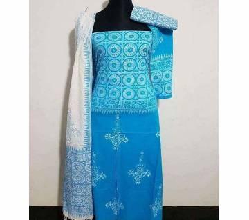 Unstitched Cotton Three Piece Dress - Copy
