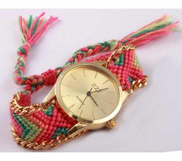 Ladies fabric strap watch