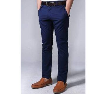 Spring Long Navy blue Pants for men