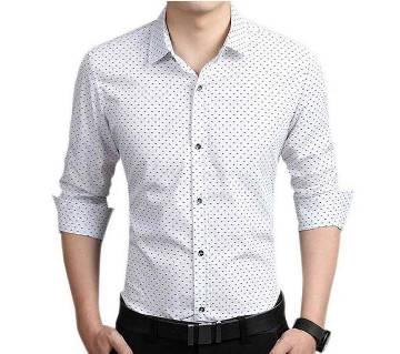 Full Sleeve Formal Polka Shirt for Men