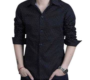 Menz Full Sleeve Polka Dot Printed Shirt