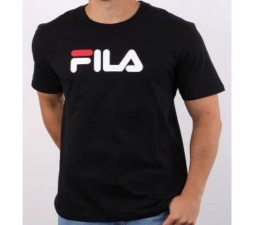 FILA Cotton T-Shirt for Men by UNITY Fashion - Black