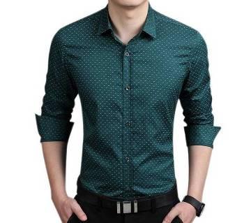 Full Sleeve Formal Polka Dot Shirt for Men
