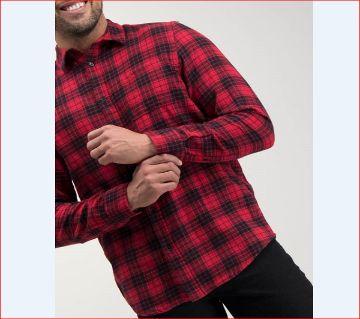full sleeve casual shirt for men-red