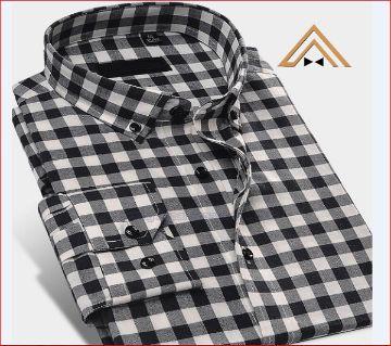 Slim fit Full sleeve cotton check shirt