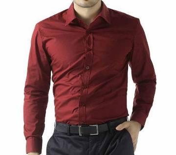Maroon  full Sleeve Formal Shirt for Men