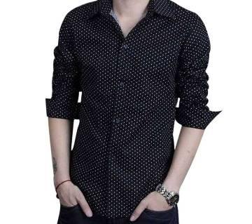 Menz Full Sleeve Polka Dot Printed Shirt