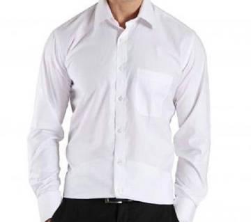Full Sleeve Casual White Shirt for Man