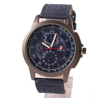 Leather wrist Watch For Men