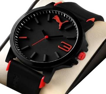 Black Red Sports Watch for Men