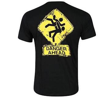 Danger Ahead হাফ স্লিভ কটন টি-শার্ট