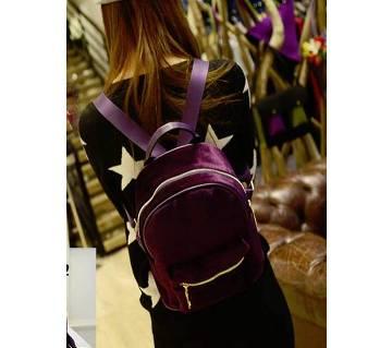 Velvet Purple ব্যাকপ্যাক ফর গার্লস
