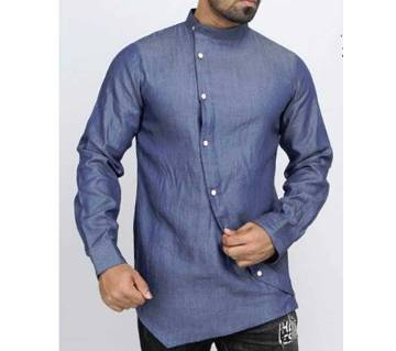 Full Sleeve Denim Casual Shirt For Men
