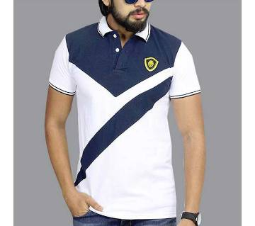 navy blue and white t shirt for men