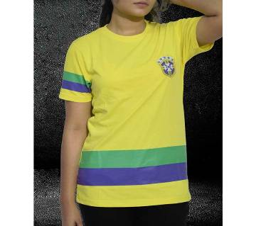 Brazil জার্সি ডিজাইন হাফ স্লিভ টি-শার্ট ফর মেন