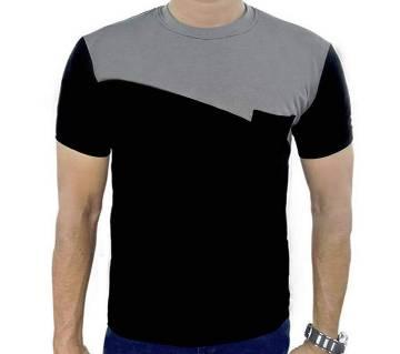 Black and ash t shirt for men