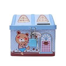 House Coin Box - Sky Blue