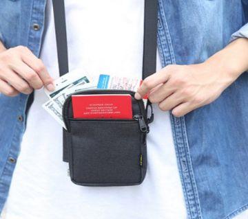 Cross Belt Zipped Hanging Passport Bag
