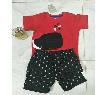 4 years-Baby Boy Summer Dress Red & Black
