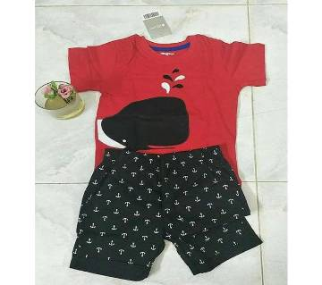 2 years-Baby Boy Summer Dress Red & Black
