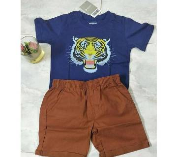 6 years-Baby Boy Summer Dress -Tiger Block Blue 7 meroon