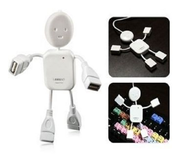 Human Shaped 4 Port USB Hub - White - GNG